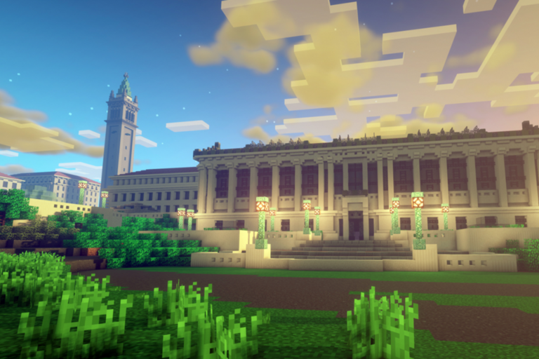 Rendering of UC Berkeley in Minecraft