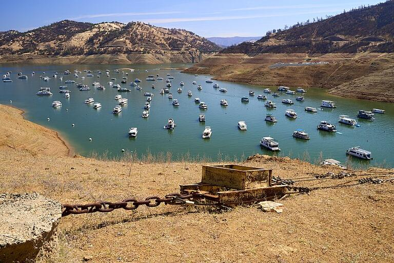Water levels of Lake Oroville in Butte County sit at 38% capacity on Monday, May 31, 2021, as California heads into another drought year. (Photo/ Frank Schulenburg / CC BY-SA 4.0)